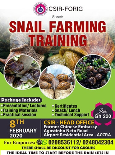 Snail Farming Training