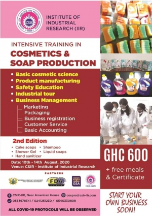 Intensive Training in Cosmetics & Soap Production